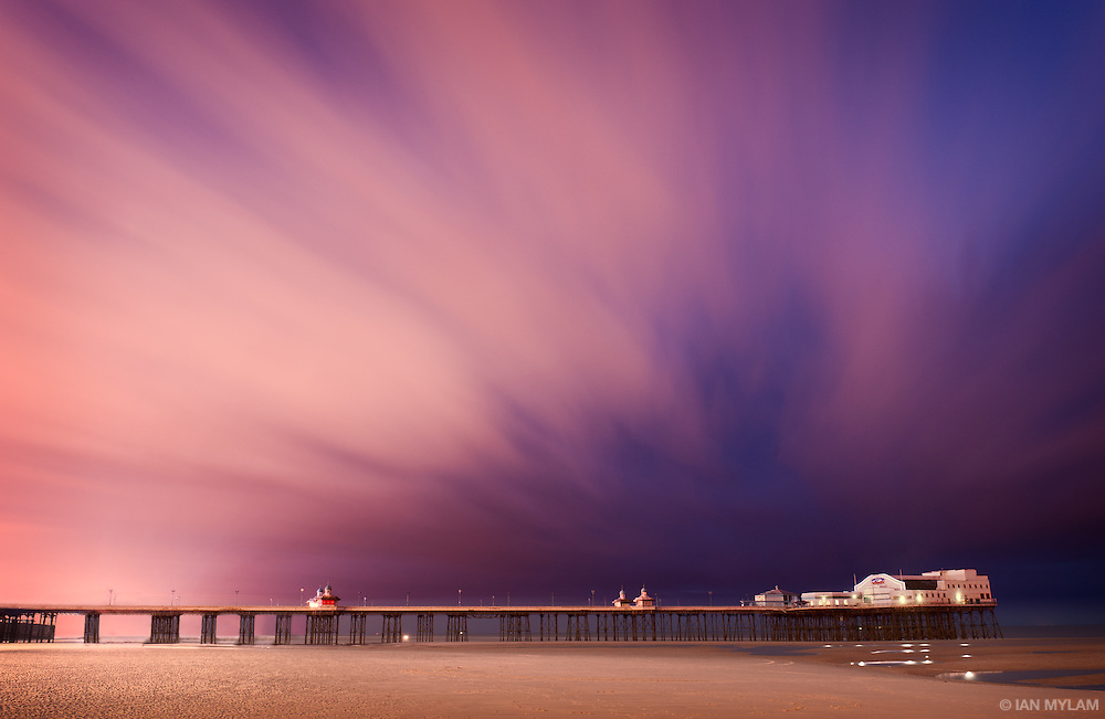 Dusk over the North Pier - Blackpool, Lancashire, England