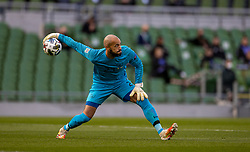 DUBLIN, REPUBLIC OF IRELAND - Sunday, October 11, 2020: Republic of Ireland's goalkeeper Darren Randolph during the UEFA Nations League Group Stage League B Group 4 match between Republic of Ireland and Wales at the Aviva Stadium. The game ended in a 0-0 draw. (Pic by David Rawcliffe/Propaganda)