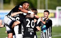 Fotball , 2. september 2017 , 2. divisjon herrer , PostNord-ligaen<br /> Asker - Alta<br /> jubel Asker med Demba Traore Souleymane  på toppen