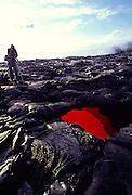 Skylight, lava tube, Kilauea Volcano, Hawaii Volcanoes National Park, Island of Hawaii, Hawaii, USA<br />