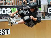 Skateboarding in Huntington Beach