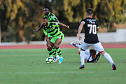 Forest Green Rovers Dan Wishart(17) on the ball during the Pre-Season Friendly match between SC Farense and Forest Green Rovers at Estadio Municipal de Albufeira, Albufeira, Portugal on 25 July 2017. Photo by Shane Healey.