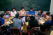 Classroom scene, language class.