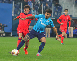 September 28, 2017 - Saint-Petersburg - Of The Russian Federation. Saint-Petersburg. Zenit-arena. Arena Saint-Petersburg. Match Of The UEFA Europa League. Zenit beat real Sociedad with the score 3:1 in the match of UEFA Europa League. Player..Sebastian Driussi. (Credit Image: © Russian Look via ZUMA Wire)