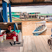 Islandia, Peruvian fishing village on the border with Brazil along the Yavari river, in the Amazon