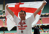 Photo: Rich Eaton.<br /> <br /> Grimsby Town v Cheltenham Town. Coca Cola League 2. Play off Final. 28/05/2006. Scorer of Cheltenhams only goal Steve Guinan celebrate promotion