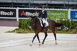 Sandra Karlsson, (SWE), Vouge E - Team Competition Grade Ib Para Dressage - Alltech FEI World Equestrian Games™ 2014 - Normandy, France.<br /> © Hippo Foto Team - Jon Stroud <br /> 25/06/14