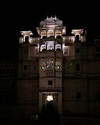Son et Lumière Illuminations at the City Palace in the city of Udaipur, Rajasthan, India <br /> <br /> Editorial & Non-Commercial use only