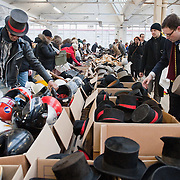 LONDON, ENGLAND - FEBRUARY 06: Different types of head gear for sale at Angels Retro Sale on February 6, 2010 in London, England. Angels Costumiers are selling over 25,000 items of clothing and accessories from their warehouse in Wembley on February 6, 2010. The Retro Sale features fashion items from the 1950s to the 1990s as well as period military uniforms. Angels is the world's longest-established supplier of costumes to film and theatre, founded in 1840 the company supplies costumes to over 1000 productions per year.  (Photo by Marco Secchi/Getty Images)
