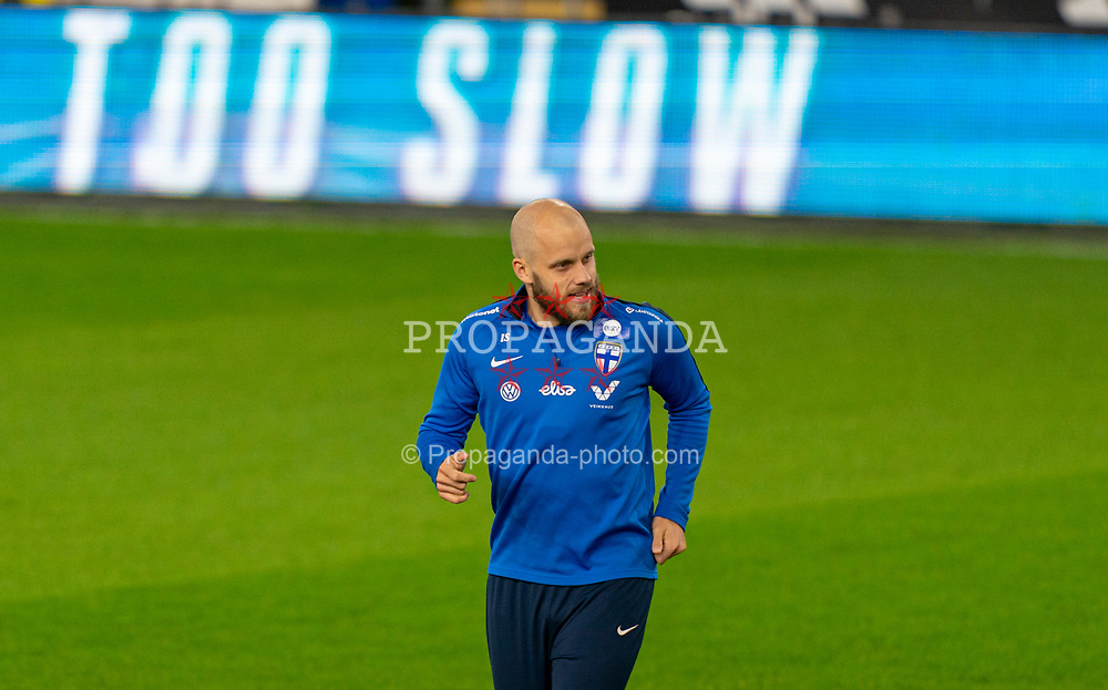 CARDIFF, WALES - Tuesday, November 17, 2020: Finland's Teemu Pukki during a training session at the Cardiff City Stadium ahead of the UEFA Nations League Group Stage League B Group 4 match between Wales and Finland. (Pic by David Rawcliffe/Propaganda)
