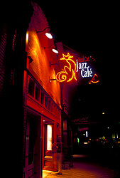 Stock photo of the front entrance to the Red Cat Jazz Cafe in downtown Houston Texas