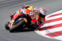 June 17, 2018 - Barcelona, Catalonia, Spain - The Spanish rider, Marc Marquez of Repsol Honda Team, riding his bike during the Catalunya Motorcycle Grand Prix at Circuit de Catalunya on June 17, 2018 in Barcelona, Spain. (Credit Image: © Joan Cros/NurPhoto via ZUMA Press)