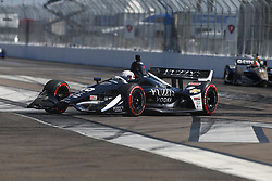 March 11, 2018 - St. Petersburg, Florida, United States of America - March 11, 2018 - St. Petersburg, Florida, USA: Jordan King (20) battles for position during the Firestone Grand Prix of St. Petersburg at Streets of St. Petersburg in St. Petersburg, Florida. (Credit Image: © Justin R. Noe Asp Inc/ASP via ZUMA Wire)