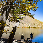 The Fall season in the Eastern Sierras is one of the most beautiful seasons to visit. Convict Lake, just south of the town of Mammoth Lakes, is a site to behold as fishermen, kayakers and hikers enjoy the fall scenery.