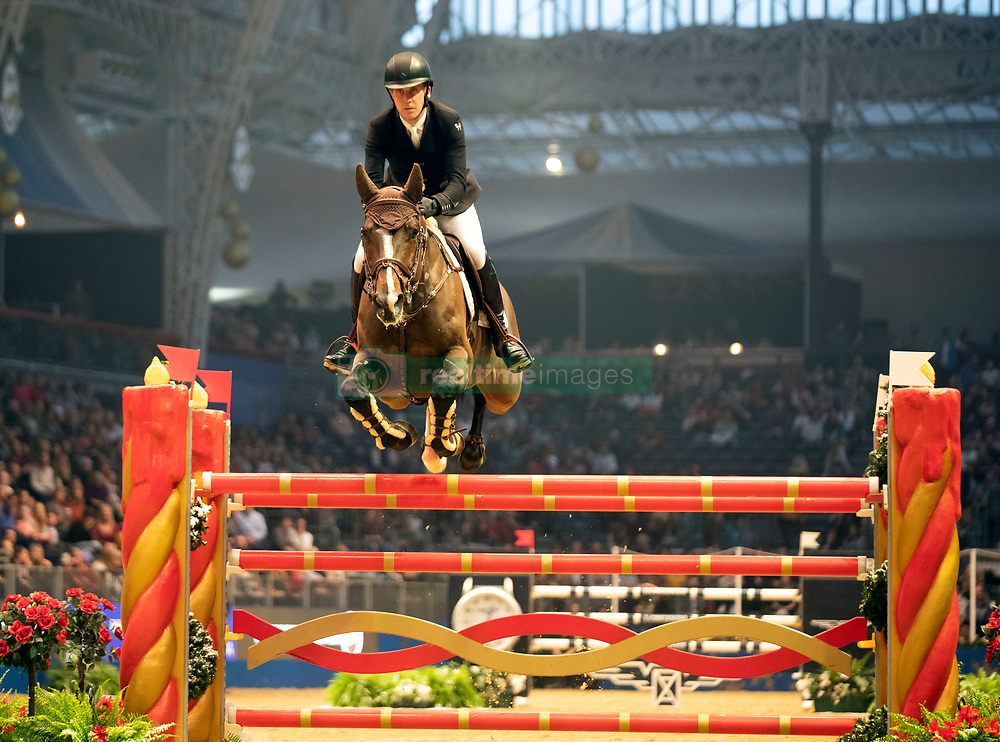 Ireland's Shane Breen riding Clyde VA competes in the Christmas Masters during day seven of the London International Horse Show at London Olympia.