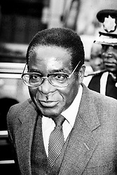 File photo dated 02/08/86 of Robert Mugabe, whose legacy as one of the most ruthless tyrants of modern times will remain long after his days as notorious statesman of Zimbabwe are over.