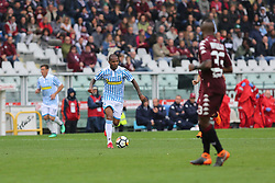 May 13, 2018 - Turin, Piedmont, Italy - Everton Luiz ( S.P.A.L.) in action  during the Serie A football match between Torino FC and S.P.A.L. at Olympic Grande Torino Stadium on May 13, 2018 in Turin, Italy. (Credit Image: © Massimiliano Ferraro/NurPhoto via ZUMA Press)