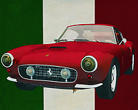 The Ferrari 250 GT SWB Berlinetta from 1957 is so beautiful that you immediately want to drive away with it. Ferrari has with this Ferrari 250 GT SWB Berlinetta from 1957 really built a classic; the whole Italian culture is incorporated and the whole of Italy is proud that this Ferrari 250 GT SWB Berlinetta from 1957 is part of their way of life.<br /> <br /> This painting of the Ferrari 250 GT SWB Berlinetta from 1957 can be printed on different materials and different sizes. -<br /> <br /> BUY THIS PRINT AT<br /> <br /> FINE ART AMERICA<br /> ENGLISH<br /> https://janke.pixels.com/featured/ferrari-250-gt-swb-berlinetta-from-1957-the-ferrari-for-daily-use-jan-keteleer.html<br /> <br /> <br /> WADM / OH MY PRINTS<br /> DUTCH / FRENCH / GERMAN<br /> https://www.werkaandemuur.nl/nl/werk/Ferrari-250-GT-SWB-Berlinetta-uit-1957-de-Ferrari-voor-dagelijks-gebruik/637088/134?mediumId=1&size=70x55