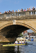 Henley, Great Britain, left to right, Andy TWIGGS HODGE, Peter REED, Steve WILLIAMS and Tom JAMES, Row past through the town from the RRM to UTRC,  Olympic celebration, on Sat 11.10.2008. [Mandatory Credit: Peter Spurrier