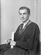17/7/1952<br /> 7/17/1952<br /> 17 July 1952<br /> Dr<br /> Dr. W.S. Wren at Degree day U.C.D.