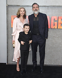 Rampage Premiere at The Microsoft Theatre in Los Angeles, California on 4/4/18. 04 Apr 2018 Pictured: Jeffrey Dean Morgan, Hilarie Burton. Photo credit: River / MEGA TheMegaAgency.com +1 888 505 6342