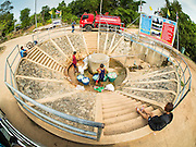 10 MAY 2016 - TA TUM, SURIN, THAILAND: People get water from the artesian well in Ta Tum, Surin, Thailand. The well is the most important source of drinking water for thousands of people in the communities surrounding it. In the past many of the people had domestic water piped to their homes or from wells in their villages but those water sources have dried up because of the drought in Thailand. Thailand is in the midst of its worst drought in more than 50 years. The government has asked farmers to delay planting their rice until the rains start, which is expected to be in June. The drought is expected to cut Thai rice production and limit exports of Thai rice. The drought, caused by a very strong El Nino weather pattern is cutting production in the world's top three rice exporting countries:  India, Thailand and Vietnam. Rice prices in markets in Thailand and neighboring Cambodia are starting to creep up.    PHOTO BY JACK KURTZ