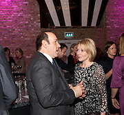 KEVIN SPACEY; LISA DILLON, Party after the opening of 'Flea in her Ear' . The Old Vic. ( John Mortimer write the translation of theplay.) Vinioplois. 14 December 2010. DO NOT ARCHIVE-© Copyright Photograph by Dafydd Jones. 248 Clapham Rd. London SW9 0PZ. Tel 0207 820 0771. www.dafjones.com.