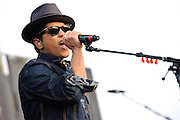 Bruno Mars performs at the Bamboozle Music Festival. Meadowlands Sports Complex, East Rutherford, NJ.  April 30, 2011. Copyright © 2011 Chris Owyoung.