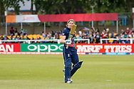 England womens cricket player Heather Knight (capt) is out for 106 during the ICC Women's World Cup match between England and Pakistan at the Fischer County Ground, Grace Road, Leicester, United Kingdom on 27 June 2017. Photo by Simon Davies.