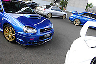 Group shot of a selection of Subaru Impreza WRX & Liberty STI models from MY99 to MY06.Shot on location in Port Melbourne.21st January 2007.(C) Joel Strickland Photographics.Use information: This image is intended for Editorial use only (e.g. news or commentary, print or electronic). Any commercial or promotional use requires additional clearance.