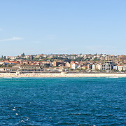 Bondi Beach, Sydney, New South Wales, Australia. High resolution panorama.