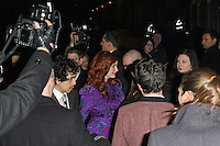 LONDON - FEBRUARY 13: Christina Hendricks attends the public relations disaster that was the outside arrivals at the ELLE Style Awards at the Savoy Hotel, London, UK on February 13, 2012. (Photo by Richard Goldschmidt)
