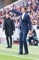 Athletic Club coach Jose Angel Ziganda  during La Liga match between Atletico de Madrid and Athletic Club and Wanda Metropolitano in Madrid , Spain. February 18, 2018. (ALTERPHOTOS/Borja B.Hojas)