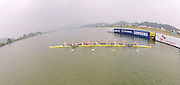 Chungju, South Korea.  GBR W8-. Bow. Beth RODFORD, Melanie WILSON, Caragh MCMURTY, Louisa REEVE, Jessica EDDIE, Zoe LEE, Katie GREVES, Oliva CARNEGIE-BROWN and cox Zoe DE TOLEDO, at the start. 2013 World Rowing Championships, Tangeum Lake, International Regatta Course. 22:38:06  Tuesday  07/06/2011 [Mandatory Credit. Peter Spurrier/Intersport Images]