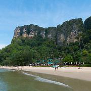 Amazing cliffs behind Centara Grand beach near Ao Nang, Krabi province, Thailand