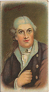 'David Garrick (1717-1779) English actor, playwright, producer, and theatre manager, one of the greatest and most influential theatrical personalities of the 18th century. Chromolithograph.'
