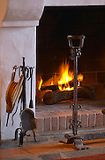 Fire place in the dining room. J Portugal Ramos Vinhos, Estremoz, Alentejo, Portugal