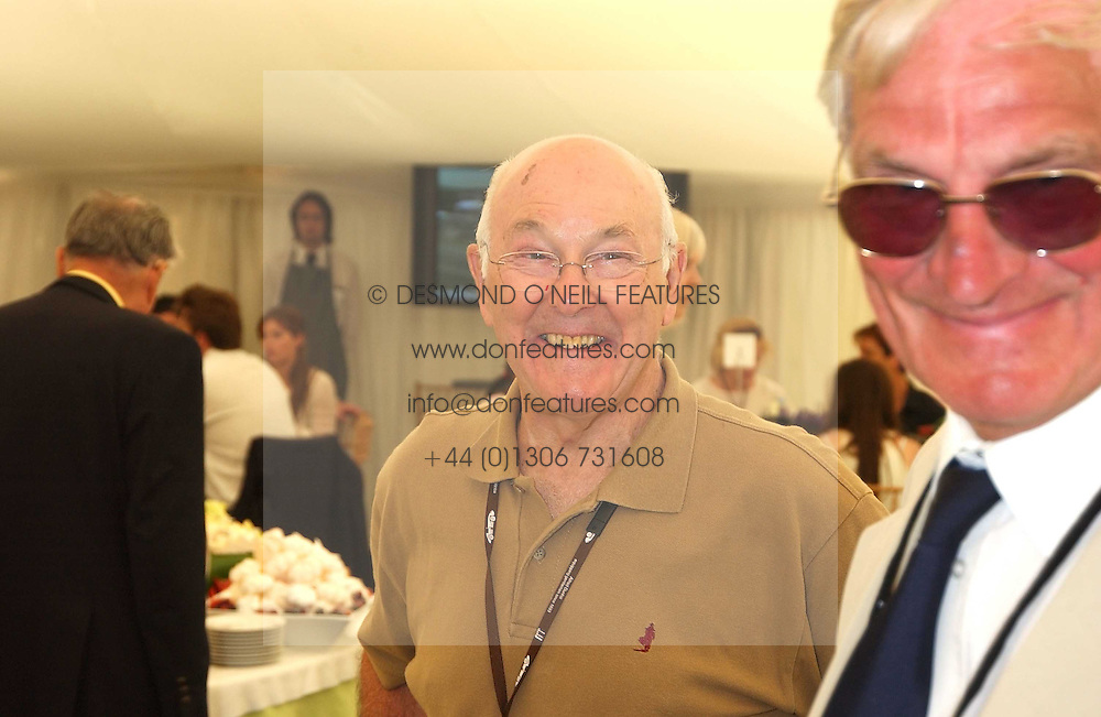 """MURRAY WALKER at a luncheon hosted by Cartier at the 2005 Goodwood Festival of Speed on 26th June 2005.  Cartier sponsored the """"Style Et Luxe' for vintage cars on the final day of this annual event at Goodwood House, West Sussex. <br /><br />NON EXCLUSIVE - WORLD RIGHTS"""