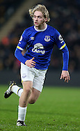 Tom Davies of Everton during the English Premier League match at the KCOM Stadium, Kingston Upon Hull. Picture date: December 30th, 2016. Pic Simon Bellis/Sportimage