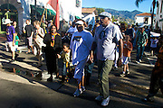 """17 January 2011-Santa Barbara, CA: MLK Jr. march from De La Guerra Plaza up State Street to the Arlington Theatre.  """"Retelling the Story"""", Santa Barbara Honors Dr. Martin Luther King Jr. on January 17, 2011 in Santa Barbara, California.  .-Pre-March Program and Rally at De La Guerra Plaza in front of Santa Barbara City Hall followed by a march up State Street to the Arlington Theatre...Arlington Theatre Program:.-""""New Cats"""", Santa Barbara Youth  .Music Academy.-Invocation, Pastor Louis Watkins.-""""Lift Every Voice and Sing, Mass Choir.-Welcome, Isaac Garrett.-Introduction of Video, Minister Gwendolyn Hampton.-Video Presentation, Dr King's Early Ministry.-Presentation of Essay & Poetry Contest Winners, Sojourner Kincaid Rolle and Anais Borg-Marks.-Musical Selection, Voices of Greater Hope Youth Choir.-Introduction of Local Elected Officials, Pastor Louis Watkins and Wallace Shepherd Jr..-Presentation of Essay and Poetry Contest Winners, Sojourner Kincaid Rolle and Anais Borg-Marks.-Introduction of Video, Kimberly Martinez and Nya Burke.-Video Presentation """"The Struggle"""".-""""Precious Lord"""", Juan Turner & Lazandria Richey.-Dance Presentation, Zabra Russell.-Introduction of Keynote Speaker, Sojourner Kincaid Rolle.-Keynote Address, Dr. Gloria Willingham, Ph. D..-Medley, Mass Choir directed by Juan Turner.-Introduction of Video, Kimberly Martinez, Nya Burke.-Video Presentation, """"I Have a Dream"""".-""""We Shall Overcome"""", Mass Choir & Audience.-Benediction, Pastor Wallace Shepherd, Jr...Following the program there was a """"Free Community Lunch"""", at First United Methodist Church in Santa Barbara, CA.  Photos by Rod Rolle"""