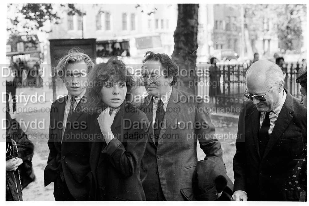 IVANA LOWELL,<br />  marquess of Dufferin and Ava memorial service. St. Margaret's, Westminster. London. 6 October 1988,<br /> <br /> SUPPLIED FOR ONE-TIME USE ONLY> DO NOT ARCHIVE. © Copyright Photograph by Dafydd Jones 248 Clapham Rd.  London SW90PZ Tel 020 7820 0771 www.dafjones.com