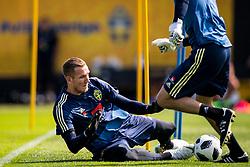 May 29, 2018 - BÃ¥Stad, Sverige - 180529 MÃ¥lvakt Robin Olsen under Sveriges fotbollslandslags träning den 29 maj 2018 i BÃ¥stad  (Credit Image: © Petter Arvidson/Bildbyran via ZUMA Press)