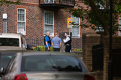 © Licensed to London News Pictures. 03/08/2020. London, UK. Police officers, forensics examiners and detectives at the scene of a shooting at Tilson Gardens that happened around 6.38pm on August 3rd in Brixton, where a man was taken to hospital with a gunshot injury. Photo credit: Paul Davey/LNP