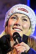 Mikaela Shiffrin anlässlich des Audi FIS Ski World Cups 2018 der Frauen in Lenzerheide