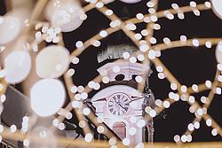 THEMENBILD - Glockenturm der Spitalskirche zum Heiligen Geist mit den Lichtern der nächtlichen Stadt, aufgenommen am 23. Jänner 2021 in Innsbruck, Oesterreich // Bell tower of the Spitalkirche zum Heiligen Geist with the lights of the city at night in Innsbruck, Austria on 2021/01/23. EXPA Pictures © 2021, PhotoCredit: EXPA/ JFK