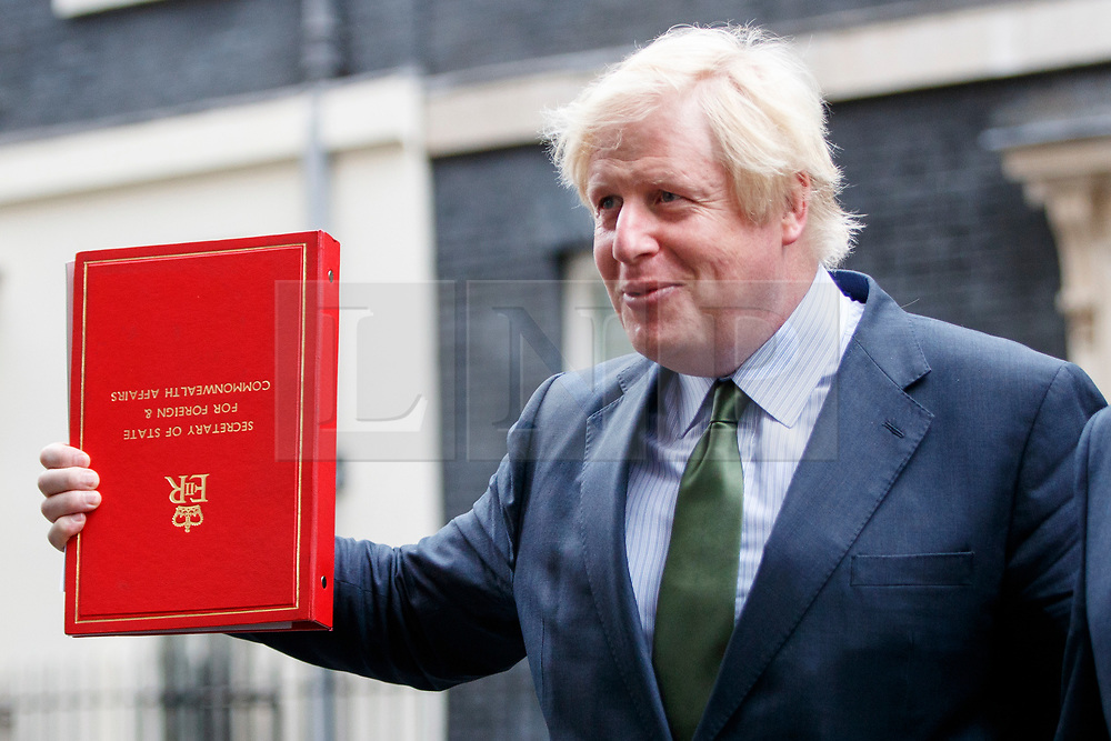 © Licensed to London News Pictures. 27/06/2017. London, UK. Foreign Secretary BORIS JOHNSON attends a cabinet meeting in Downing Street, London on Tuesday, 27 June 2017. Photo credit: Tolga Akmen/LNP