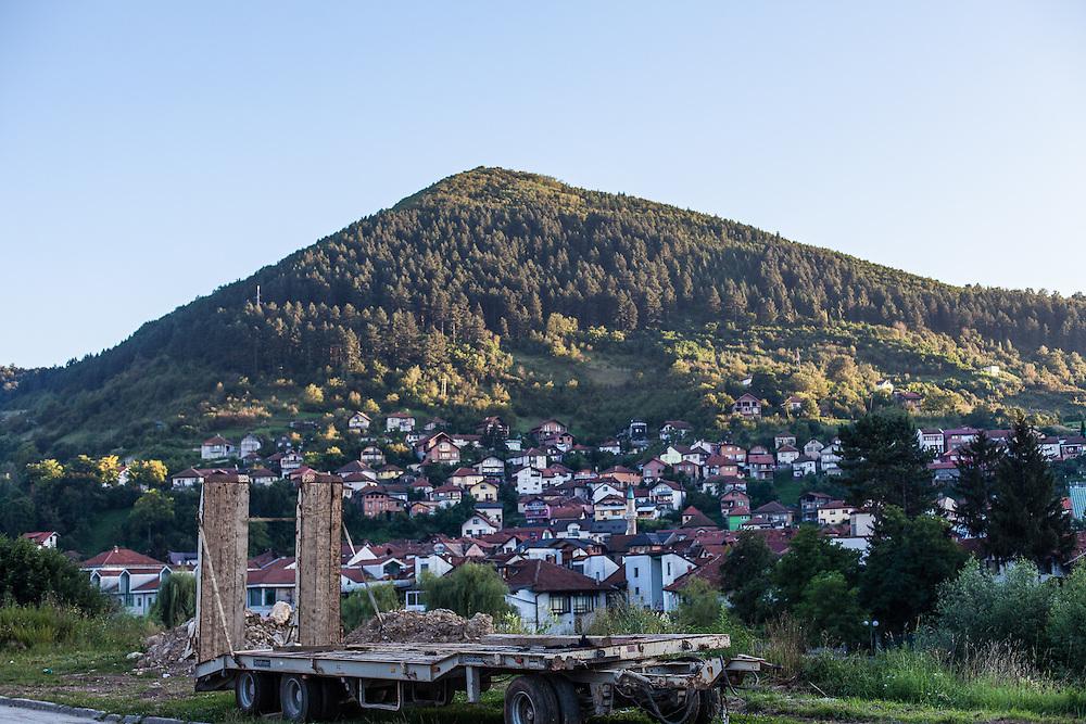 Visočica hill, the Pyramid.