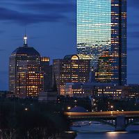 Boston photography featuring familiar landmark along the Charles River, such as the 200 Clarendon better known as the John Hancock Tower with the newly renovated Longfellow Bridge. <br /> <br /> Boston skyline photography images are available as museum quality photography prints, canvas prints, acrylic prints or metal prints. Fine art prints may be framed and matted to the individual liking and decorating needs:<br />  <br /> https://juergen-roth.pixels.com/featured/charles-river-and-200-clarendon-juergen-roth.html<br /> <br /> Good light and happy photo making!<br /> <br /> My best,<br /> <br /> Juergen