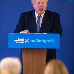 Boris Johnson launching the Scottish Conservative General Election Manifesto 2019