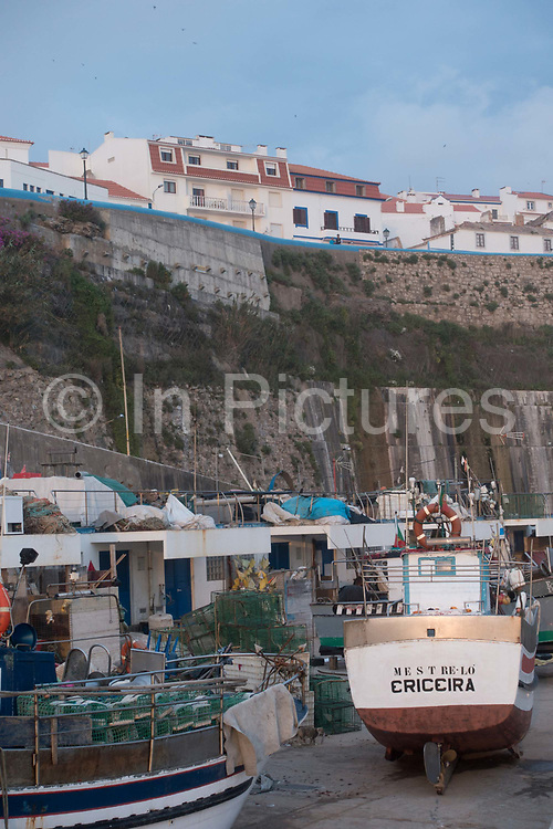 Fisherman's harbour, a traditional fishing harbour at Praia dos Pescadores on 24th May 2018 in Ericeira in Portugal. Ericeira is a civil parish and seaside resort/fishing community on the western coast of Portugal.